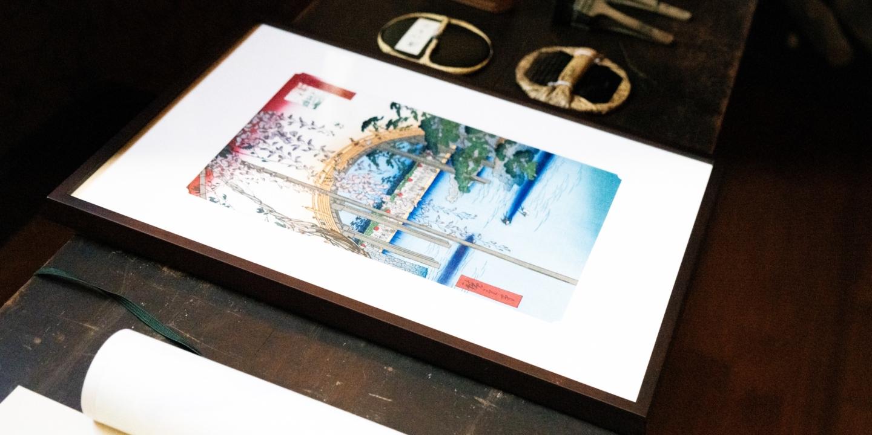 """""""La gravure sur bois de l'époque d'Edo"""" nous font songer aux plusieurs histoires. La charme que seuls ceux qui la touchent de la main peuvent apprécier"""