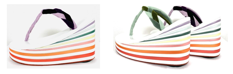 【Yotsuya Sanei】 De nouvelles couleurs estivales pour les Zori à talons hauts – ZORI Sadayakko