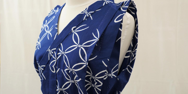 【Chikusen】dévoile des styles de yukata novateurs : le « chemisier yukata » et la « jupe plissée à point avant »